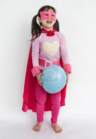 girl in costume superhero