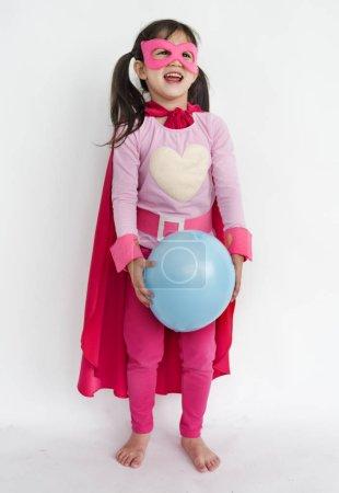 Girl in costume superhero