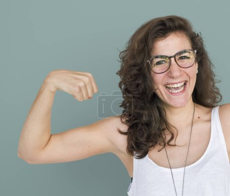 Photo for Strong young woman, original photoset - Royalty Free Image