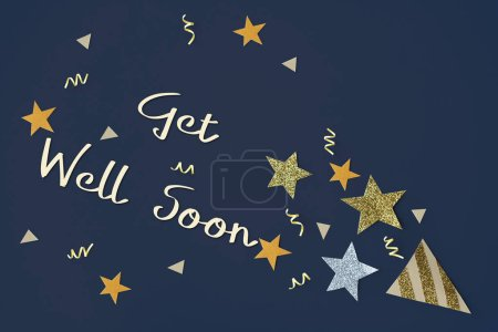 creative greeting paper with beautiful stars