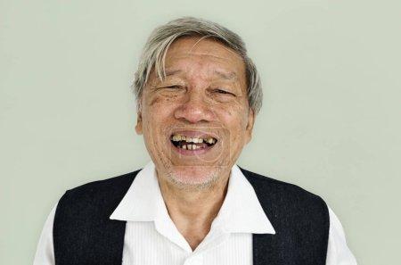 Smiling Senior Asian Man