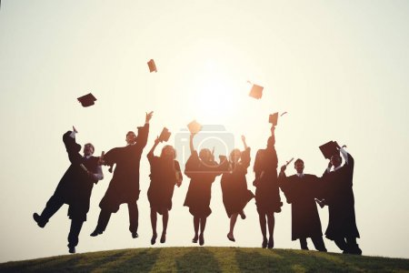 Photo for Group of students at graduation, Graduation Ceremony - Royalty Free Image