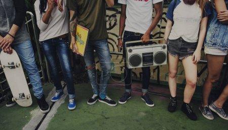 Group of teen friends