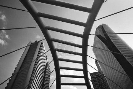 architectural bridge and buildings