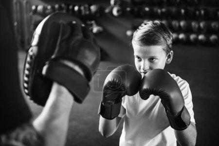 Boy Training Boxing
