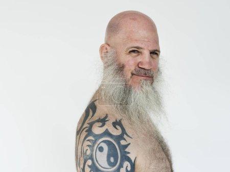 Man with beard and Tattoo