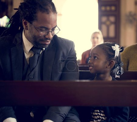 father and daughter in Church