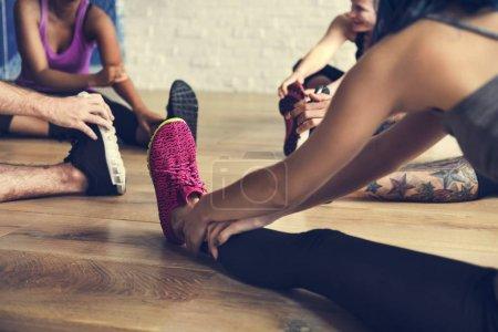 people doing yoga practice