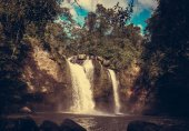 Beautiful Waterfall in Jungles