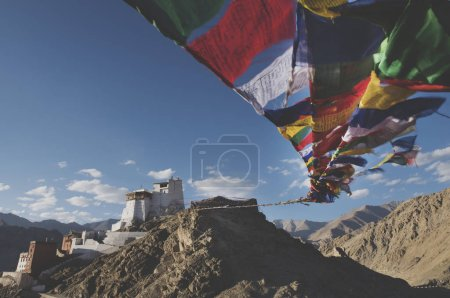 flags in khardungla, india