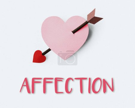 Romantic heart with arrow.