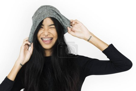 Woman Hands On Hat