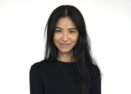 Asian Woman posing in studio