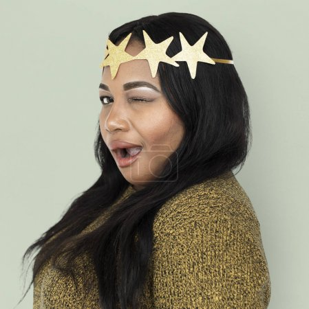 African Woman in crown with stars