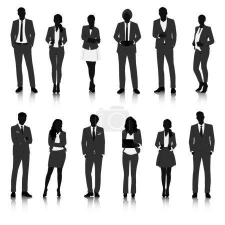 grafischen menschen silhouetten