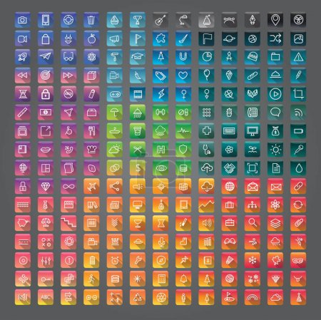 colorful application icons