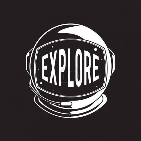 Helmet with explore word