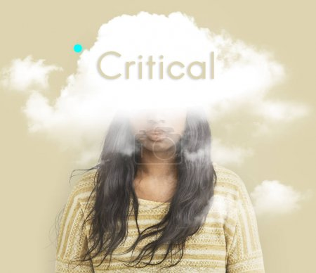 female face hidden in cloud