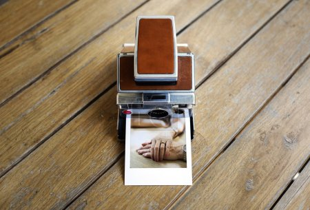 Vintage instant photo camera
