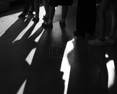 People Waiting in Queue
