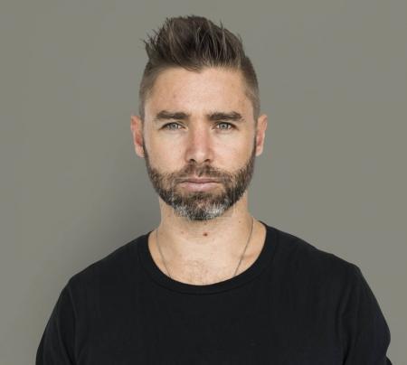caucasian handsome man face