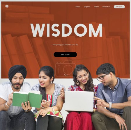 Indian students studying together