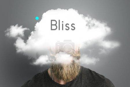 bearded man with cloud