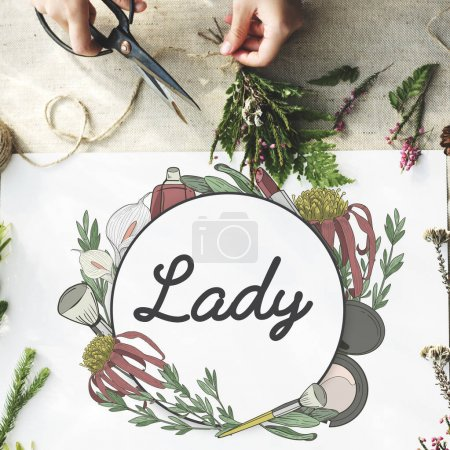 gardener making bouquet