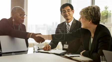 Diversity People Talking at table