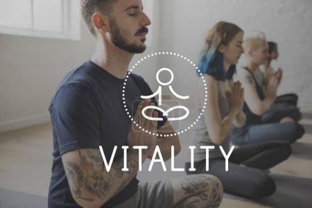 people doing yoga flexibility exercise