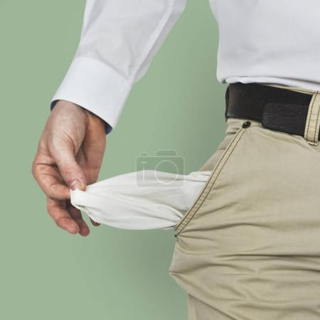 Male Shows Empty Pockets