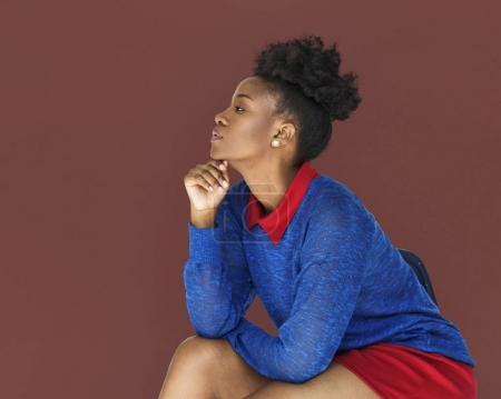 african Woman posing in studio