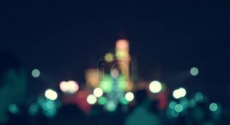 Dark Nightlights in Urban City