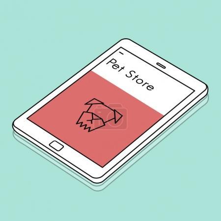 web design template digital tablet