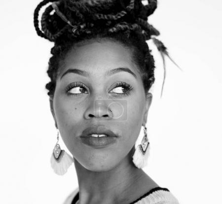 beautiful african woman face