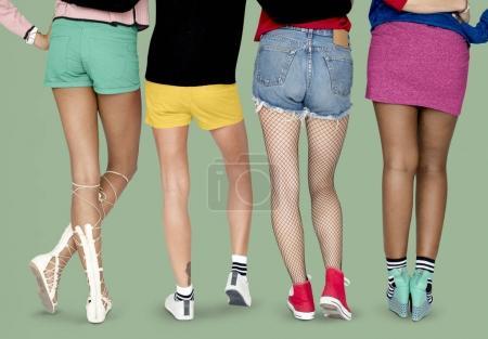 Female Legs in Shoes