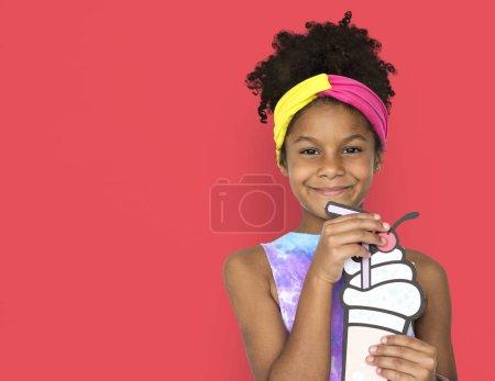 Little girl posing for camera