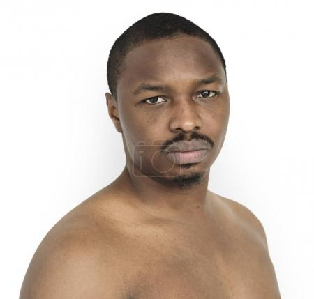 African Man with bare chest