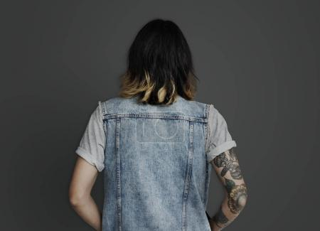 man with tattoos in studio