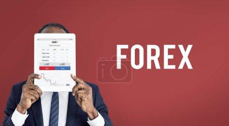 african man holding digital tablet