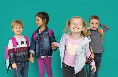 adorable multi ethnic children