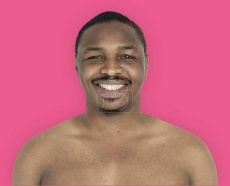 young African man smiling