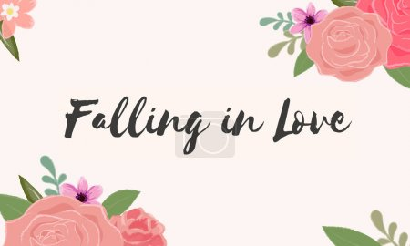 template with Falling In Love concept