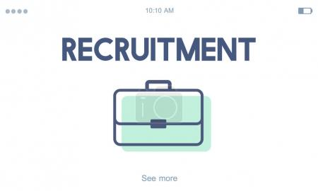 template with Recruitment concept