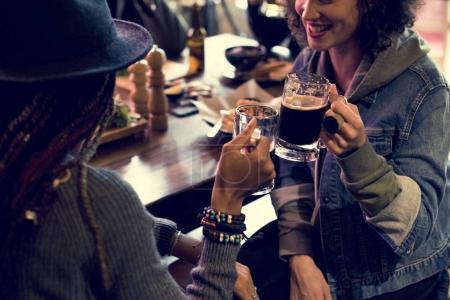 Friends drink Craft Beer