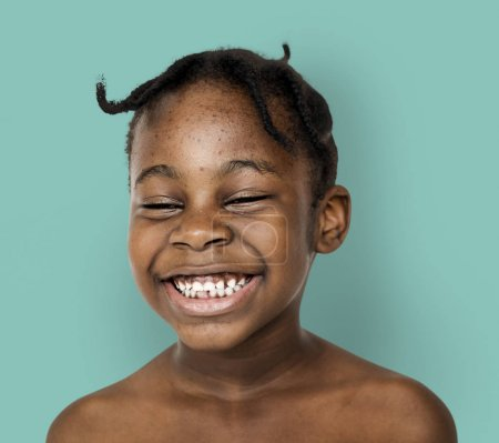 Cute African  Girl Laughing