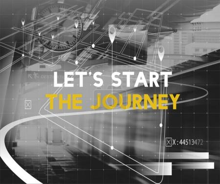 Photo for Train Station Platform and title: Lets Start The Journey - Royalty Free Image