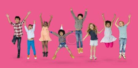 Kids Jumping and Having Fun