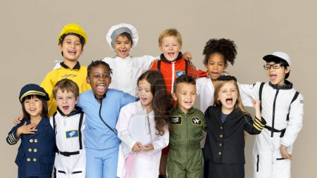 Diverse Kids in Costumes