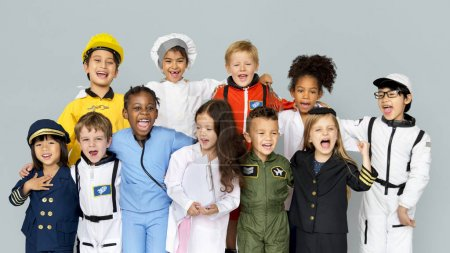children wearing dream job costumes